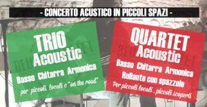 Concerto acustico in piccoli spazi Blues Quartet The Vintage Gruppo musicale Musicista per concerti eventi live festa Rock n Roll Marche Romagna Pesaro Fano Urbino Senigallia Ancona Rimini